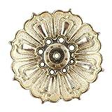 Garosa Porte-encens 9Trous en Alliage de Vintage en Forme de Fleur de Lotus Brûle-encens Censer bac à Cendres Plaque de Plateau pour cône de bâton d'encens Parfum de Maison (2pcs)