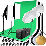 Hakutatz Profi Fotostudio Set Studioleuchte Studiosets Hintergrundsystem Lampenstativ Softbox Fotografie mit Schutztasche (Hihtergrundszsten II)