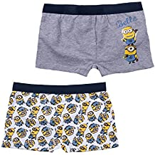 Minions Despicable Me Chicos Calzoncillos (paquete doble) - Gris d4afd74b41f