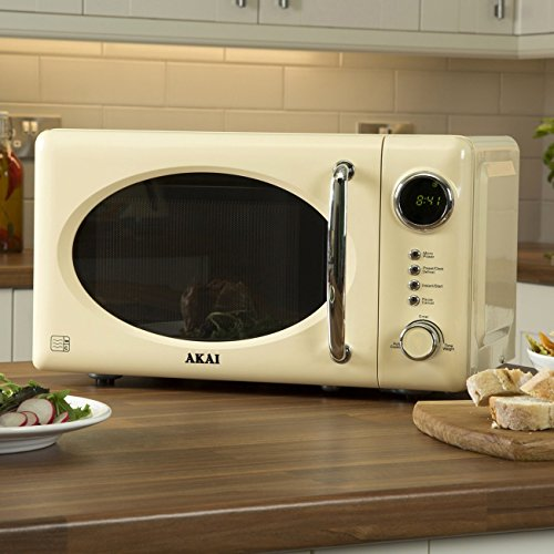 Akai A24006C Digital Microwave, 5 Power Levels, 700 W, Cream