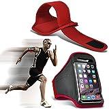 Fone-Case (Rouge) Samsung Galaxy A3 ( 2017 ) Brassard sport réglable pour l'exécution de couvercle de carter de jogging Cyclisme salle de gym