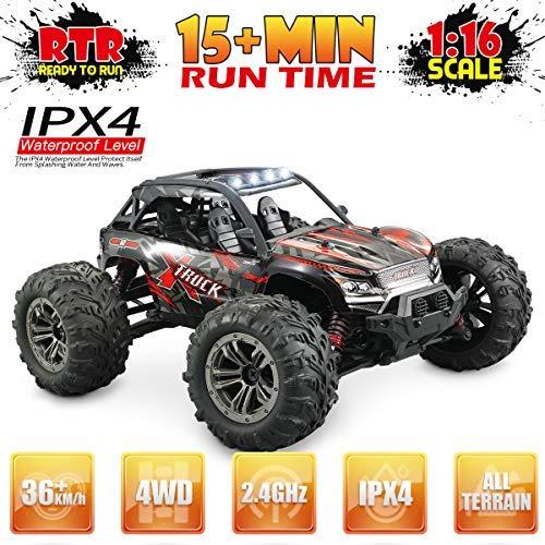 Hosim Ferngesteuertes Auto 1:16, RC Offroad Car 4WD 36 km/h, Elektronischen Spielzeugauto für Kinder Und Erwachsen (Modellnummer: 9137, Rot)