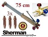 Profi Schneidbrenner SHERMAN Profi Schrottbrenner 75 cm 90° Propan-Sauerstoff