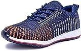 Shozie Men's Running Sports Shoes (8, Dark Blue)