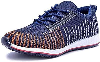 Shozie Men's Running Sports Shoes (10, Dark Blue)