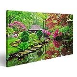 Bild Bilder auf Leinwand Schöner japanischer Garten im Parkland Clingendael in Wassenaar, die Niederlande Wandbild, Poster, Leinwandbild NVM
