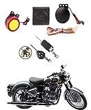 MotoPanda Bike Alarm Security System Button Remote Key Anti-Theft Alarm/Thief Guard Motorcycle Alarm
