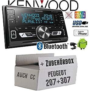 JVC 2-din cd//mp3//usb coche radioset para peugeot 207//307//Expert