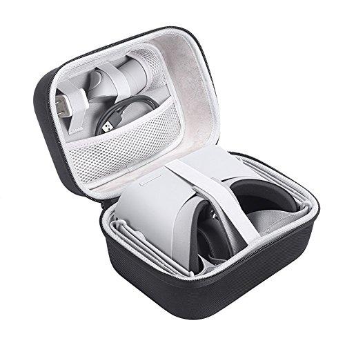 EVA Bolso Funda para Oculus Go 32GB/64GB - Standalone Virtual Reality Headset,Negro Viajes Almacenamiento Funda Protectora de la Caja del Bolso para Oculus Go VR Headset (Cover Case)
