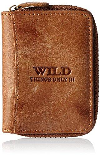 Mini Börse von Jennifer Jones - Wild Things Only !!! kleine sehr feine antik Leder Reise Unisex Geldbörse Portemonnaie ( Braun ) - präsentiert von ZMOKA® (Aus Geldbörse Graue Leder)
