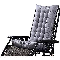 Loveinwinter Coussin De Chaise Inclinable À Dossier Haut Pliable, Coussin Mat Coussin Chaise Fauteuil De Relax De Jardin Terrasse (sans Les Chaises) 125 X 45 X 8 Cm