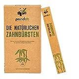 pandoo 4er-Sparset umweltfreundliche Hand-Zahnbürste |