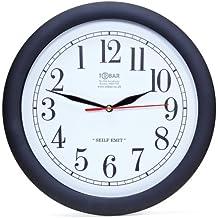 Backwards Clock -- Large Quartz Wall Clock -- Hands & Dial Go Anti-Clockwise