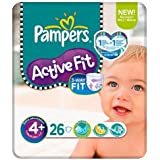 Pampers Active Fit Size 4 + (9-20kg) Carry Pack x 26 per pack by Pampers