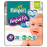 Pampers Active Fit Größe 4 + (9-20kg) Carry Pack 6 pack x 26 pro Packung
