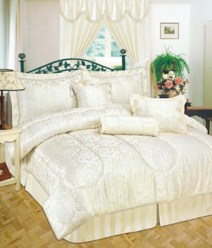 Copriletto trapuntato moderno 7pezzi jacquard lusso comforter set biancheria da