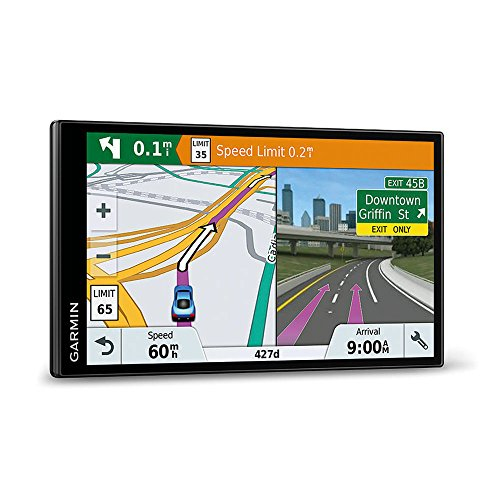 Garmin DriveSmart 61 LMT-D EU Navigationsgerät  (17,65 cm (6,95 Zoll) rahmenloses Touchdisplay, Europa (Traffic via DAB+ oder Smartphone Link)  lebenslang Kartenupdates & Verkehrsinfos, Smart Notifications) - 2