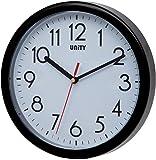 Unity Hastings 22cm 21,8cm Horloge Murale Moderne silencieuse, Plastique, Noir, 22 x 22 x 5 cm