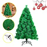 HENGMEI 210cm Sapin de Noël Artificiel Pin Vert Arbre de Noel avec Support en métal Xmas Party Decortaion