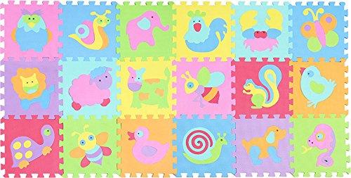 XMTMMD Schaumstoff Puzzle Matte Fruits Baby Gym Puzzle Spielmatte Kids Interlocking Soft Boden Fliesen Kinder Zimmer Play Bereich 18PCS AMZP010011G300918