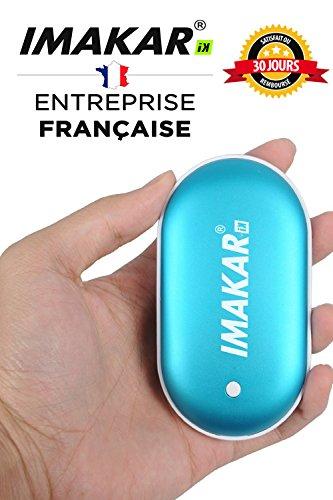 IMAKAR® Elektrischer USB Handwärmer & 5200mAh Externe Energien bank, mit 2.0 A Anschluss USB, Kann als externe Batterie verwendet werden, Und ersetzen traditionelle Handwärmer. (blau) (Angora Herz)