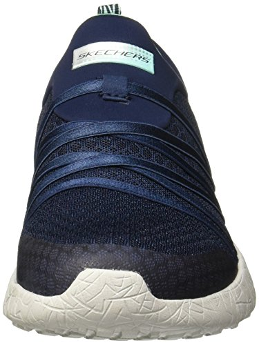 Skechers Donna Nero Sport Burst Sneaker Navy/aqua