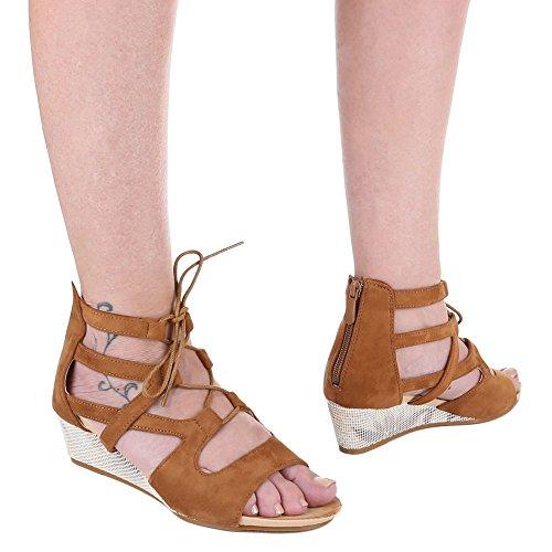 Sapatos De Cunha Sandálias Italiana De Design Das Mulheres Roman Cunha Sandália Calcanhar / Cunha Sandálias Salto Cunha Zipper / Sandálias De Camelo