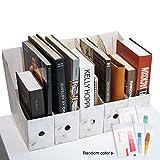 CAVEEN Zeitschriftensammler aus Karton 5 Teilig für Zeitschriften Datei Ordner Stehsammler Zeitschriftenständer Aktenhalter Schreibwaren Bürobedarf Zeitschriftenhalter Speicherorganisator (Weiß)