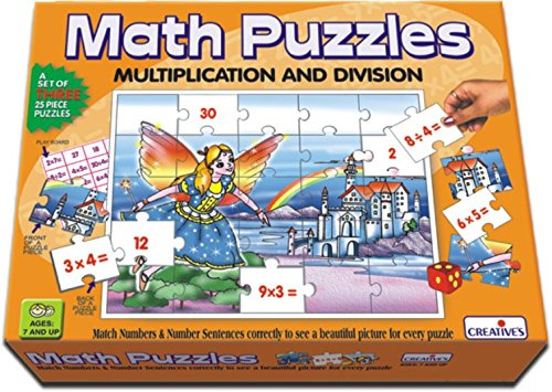 Creative's Math - Multiplication And Division Puzzles (Multi-Color, 75 Pieces)