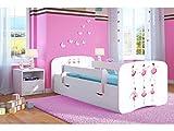 Kocot Kids võrevoodi Junior voodi 70x140 80x160 80x180 Valge, väljatõmmatav madratskoti ja restiga Tüdrukute ja juuste võrevoodi