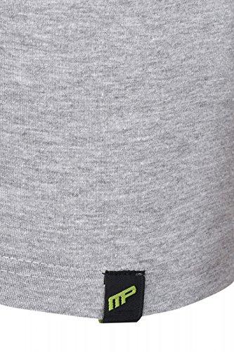 Everlast-483 Maglietta Textilbekleidung Musclepharm Grey (MPTS483) Circular logo MP
