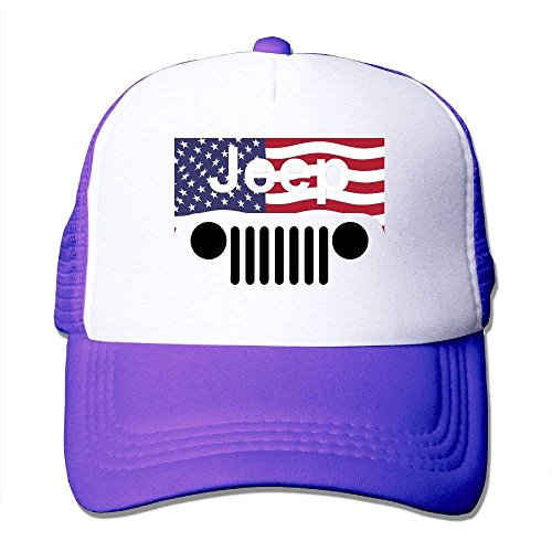lijied Jeep American Flag Logo Mesh Trucker Caps/Hats for Unisex Fußball Mesh Trucker Hat-cap
