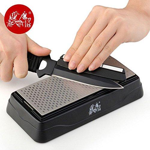 TAIDEA T0831D Doppelseitiger Küchen-Messerschärfer Schärfsystem Diamant-Messerschärfer Küchenhelfer Outdoor- Garten-Werkzeug
