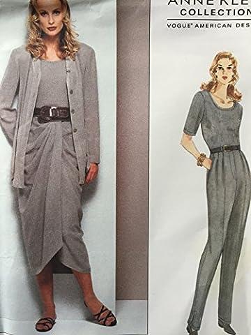 Vogue Patterns 1303Anne Klein Patron de Couture pour veste pour femme Body Jupe Pantalon pour femme Taille 14–16–18
