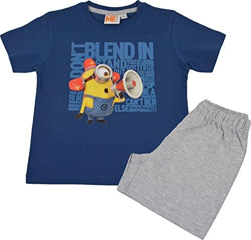 Minions Kinder Pyjama / Schlafanzug, Bee-Doo Minion mit Megaphon (110/116) (Kinder Minion Anzug)