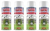 Bada Bing 4er Set Freistoß Spray Fußball Markierungspray Freistoßspray für kurzfristige Markierungen