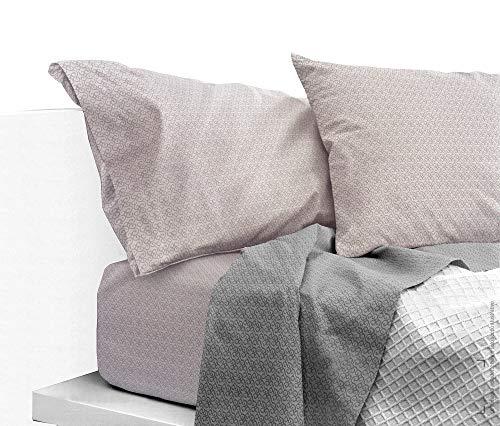 Bassetti Parure de lit complète de Trendy Art. Barr var. Gris + abattant Parfum Linge pour armoires Seulement by biancocasa