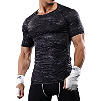 LITTHING Men 's Sports Cool Outdoor Camouflage Sweat Quick - Drying Basketball Running T - Shirts