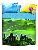Bassetti Completo Letto Copriletto Matrimoniale, Singolo e Una Piazza e Mezza Linea Natura 100% Cotone Made in Italy (Matrimoniale, Beautiful Place)