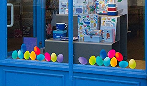 Set of 20 Lovely Colourful Static Cling Easter Eggs Window Decorations. Seasonal Window Stickers from