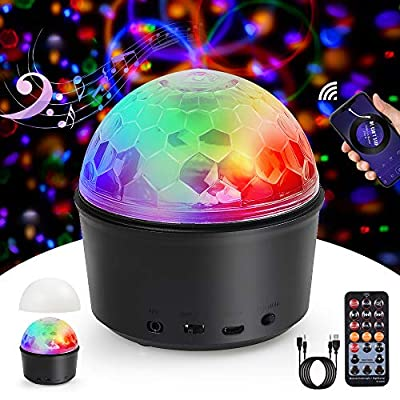 Disco Lights, Innoo Tech Sound Activated Ball Lights, 9 Colors Timed Mood Light for Kids, Rechargeable Wireless Magic Ball with 2 in 1 USB Cable & Remote Control, for DJ Parties Car Stage Birthday