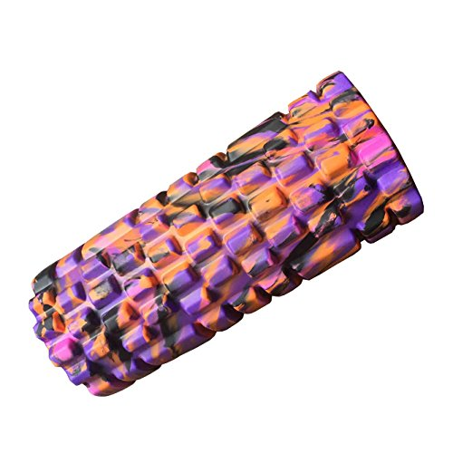 Sports Medicine Foam Roller with Grid for Deep-Tissue Massage and Trigger-Point Muscle Therapy. *Unique Targeted massage for Painful, Tight muscles + Smooth Roller for INJURY REHAB! *Relieves CHRONIC BACK CONDITIONS … (Pink Camouflage)