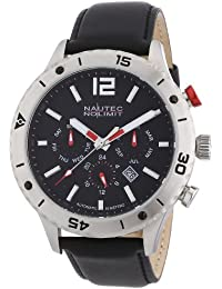 Nautec No Limit Herren-Armbanduhr XL Phantom Analog Automatik Leder PH AT/LTSTSTBK