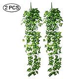 Jia Hu 2Fake Leaf Vine Aufhängen Künstliche Girlande Blattwerk Ivy für Weihnachten Hochzeit Party Home Decor 95cm