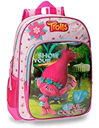 Sac à dos Les Trolls True Colors 38 cm CP/CE1 Rose