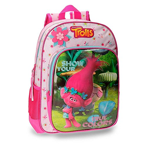 Imagen de trolls 27523a1 true colors  escolar, 40 cm, 19.2 litros, multicolor