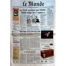 MONDE (LE) [No 18894] du 23/10/2005 - WILMA - LE CYCLONE SUBMERGE LE YUCATAN POLOGNE - DUEL FINAL POUR LA PRESIDENCE LIBERIA - GEORGE WEAH EN TETE AU SECOND TOUR SANTE - LES LIAISONS DANGEREUSES DES EXPERTS ET DE L'INDUSTRIE SKI - INGRID JACQUEMOD A SOLDEN PHOTOGRAPHIE - SEBASTIAO SALGADO PACIFIER LE DIVORCE EN EVITANT LES CONFLITS FINANCIERS AUTOMOBILES - LE COUPE 407 DE PEUGEOT - CLIMATS - FONTE OU ACCUMULATION - QUESTIONS AUTOUR DES GLACES DU GROENLAND ET DE L'ANTARC