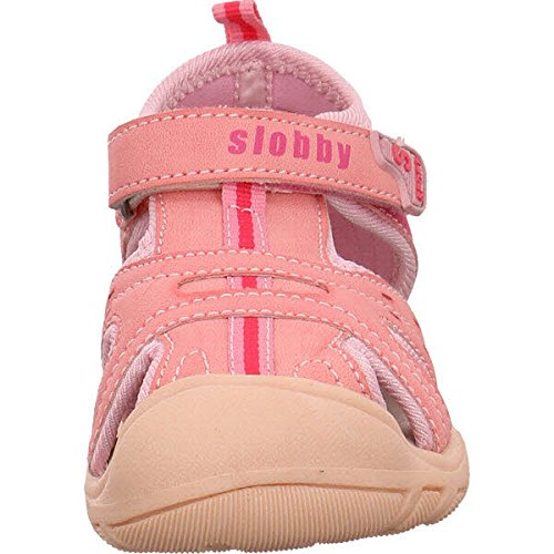 Slobby  45-0282, Chaussures premiers pas pour bébé (fille) Fuchsia