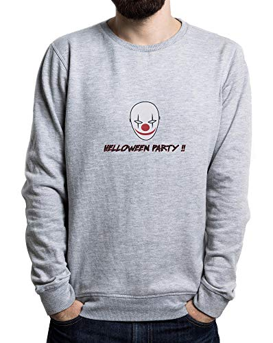 ster, Horror, Scare Men's Sweater Grau Large ()