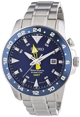 Seiko Sportura Kinetic SUN017P1 Reloj de Pulsera para hombres Segundo Huso Horario
